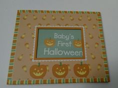 New Seasons Baby's First Halloween Picture Frame Jack o'lanters Free Shipping…