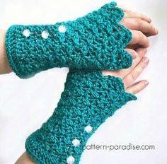 Crochet Pattern for Fingerless Gloves, Glamour Gloves Mittens PDF Crochet Fingerless Gloves Free Pattern, Fingerless Mitts, Crochet Mittens, Crochet Scarves, Crochet Clothes, Crochet Stitches, Crochet Hats, Easy Crochet, Free Crochet