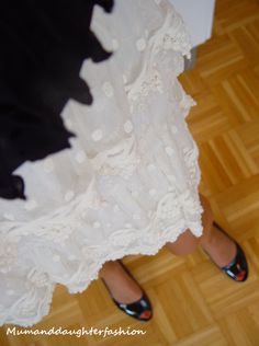 White lace skirt, perfect for summer