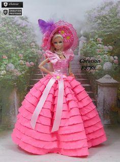 """Vêtement Barbie """" Pétunia """" Robe pour poupée Barbie fashionistas et autres f3788"""