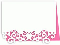 Silhouette Online Store - View Design #62087: a2 butterfly flourish leaves card
