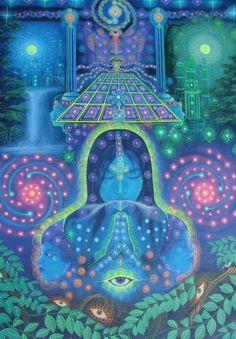Chamanisme. Déesse. Energie sacré féminin. Visions.Transe cosmique. Ayahusaca