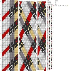26 around tubular bead crochet rope pattern Spiral Crochet, Bead Crochet Rope, Bead Crochet Patterns, Weaving Patterns, Card Weaving, Beaded Crafts, Seed Bead Bracelets, Loom Beading, Loom Knitting