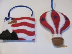 Patriotic Ornament Blue Red  White Ornament Eagle by AMailys, $6.00