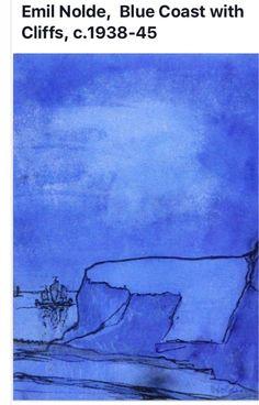 Emil Nolde: Blue Coast with Cliffs Emil Nolde, Wassily Kandinsky, Ludwig Meidner, Degenerate Art, Yves Klein, Art Moderne, Abstract Landscape, Printmaking, Art Gallery