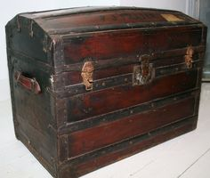 Beautiful characterful antique travel trunk by theUniqueMagpie