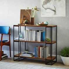 Grid Frame Bookcase - Short   west elm