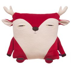 Cutest ever handmade caribou pillow/doll. Like you already have a caribou cushion?