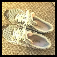 """Adorable pink/grey Asics Narrow & very cute tennis shoes - """"gel diva"""" asics Shoes Athletic Shoes"""