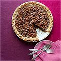 * chocolate pretzel pecan pie. DELISH!!  I love love love this pie!  I made it for Thanksgiving, but I'd eat it all year!