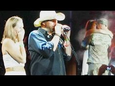 Star-spangled reunion: Toby Keith reunites military wife with her husband onstage - TODAY Entertainment