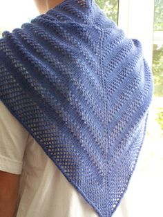 "A Lace Scarf/Shawlette pattern for those who are new to Lace knitting or for those who wanted an easy lace pattern to knit. ""If you have never knit with a fine gauge yarn then this one may be just for you."""