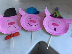 Three little pig masks