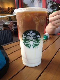 Caramel macchiato with soy and if you're feeling a little spendy get extra caramel sauce!