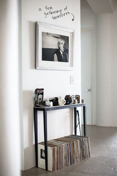 entryway table -- need this for awkwardly narrow entryway