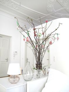 simple branches are SO versatile. Hang eggs from them during Easter, snowflakes in winter, ornaments during Christmas, hearts during Valentine's Day. They are always in season!