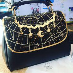 Black Lolita Astrology Handbag Shoulder Bag SP168608