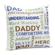 Celebrate the special occasion of father's day by gifting this beautifully designed cushion to your dad. The white color 16x16 inches cushion all the qualities of your father. Tell your dad how gentle, kind, patient, caring and loving he is and how much you adore him. http://www.giftsbymeeta.com/daddy-cushion-gifts2271