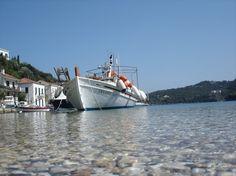 Μια ψαροβαρκούλα στην Ιθάκη Golden Gate Bridge, Greece, Boat, Travel, Greece Country, Dinghy, Viajes, Traveling, Boats