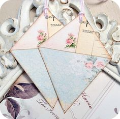 NEW  Cottage Shabby Chic Kite Tags  Set of by LittlePaperFarmhouse, $5.95