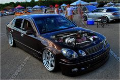 Lexus GS300 with a 2JZ Supra twin turbo engine (converted to single turbo), and air suspension - awesome!