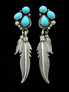 Native American Turquoise Jewelry | Native American Indian Jewelry Earrings Turquoise Navajo Zuni Santo ...
