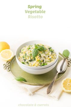 Spring Vegetable Risotto | chocolateandcarrots.com #glutenfree #vegetarian