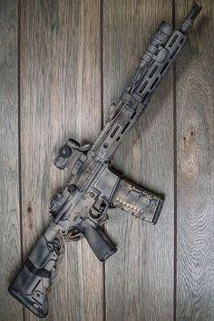 Tactical Rifles, Firearms, Shotguns, Tactical Survival, Custom Ar, Custom Guns, Camo Guns, Ar Rifle, Battle Rifle