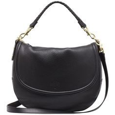 Effie Satchel Black Spongy Pebbled (£665) ❤ liked on Polyvore featuring bags, handbags, shoulder bags, accessories, sacs, bolsas, purses, handbags crossbody, leather satchel handbags and leather crossbody