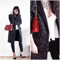 Chanel Bag, Yas Coat, Topshop Jeans