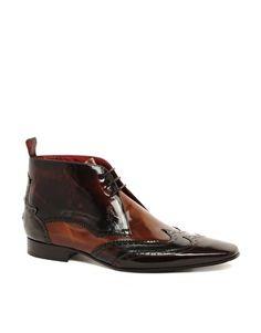Jeffery West Mixed Brogue Short Boots