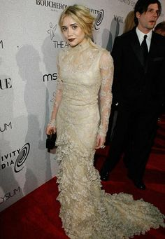 563efaa8dac4 Ashley Olsen in a Long-Sleeved Lace Dress at The Art of Elysium s