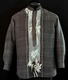 Black Barong Tagalog - L - Barongs R us Filipiniana Wedding Theme, Filipiniana Dress, Wedding Men, Wedding Suits, Wedding Gowns, Wedding Ideas, Barong Tagalog Wedding, Mens Hottest Fashion, Filipino Culture
