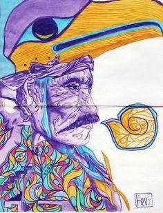 Shaman  #Chromatic #Watercolors #Traditional #Ilustration