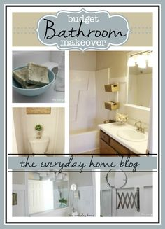 Master Bathroom Makeover on a Budget at The Everyday Home Blog  #bathroom #makeover #fliphouse #budgetdecorating