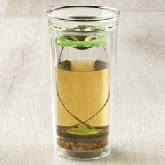 Steep Loose Leaf Tea or coffee & drink from the same double-walled glass cup!  Love it!  Brewfish Tea & Coffee Press