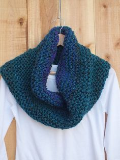 $38 OCEAN Cowl   Teal  royal blue purple  soft by SuninVirgoCreations