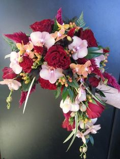 Fall crescent bridal bouquet Www.silverfoxflowers.com