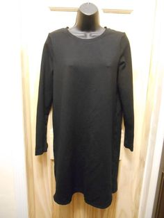 Lord & Taylor 424 Fifth Medium Little Black Stretch Long Sleeve Dress #LordTaylor #Sheath #WeartoWork