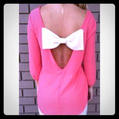 NWT Watermelon Bow Top This top is absolutely too cute! It fits true to size and it is thin enough to layer and works for any season Tops Blouses