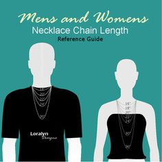 Mens and Womens Necklace Length Chart Size Reference Guide