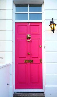 fuschia front door