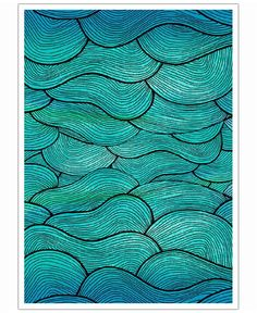 Sea Waves Pattern of Pom Graphic Design now on JUNIQE!