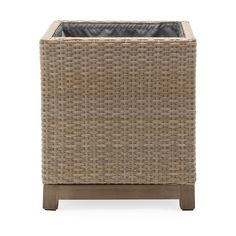 Support your new ficus, rubber plant, or aloe with the Belham Living Rhen Wicker Square Planter Box . This box planter is an ideal complement. Planters Around Pool, Square Planter Boxes, Planter Beds, Screened In Patio, Ficus, Wicker, Walmart, Products, Enclosed Patio