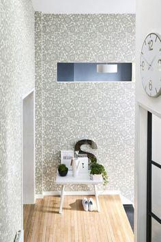 Gorgeous Grey Wallpaper Design By Scion Hallway Kitchen