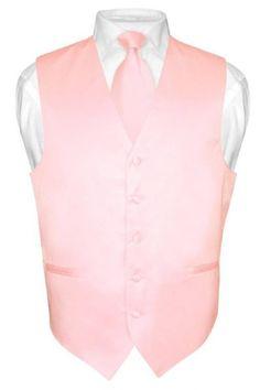Vesuvio Napoli Pink Solid Silky Vest | Warehouse Suit Sale