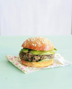 veggie burger aux champignons et fenouil