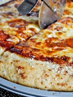 Garlic Bread Pizza Crust  from @How Sweet Eats