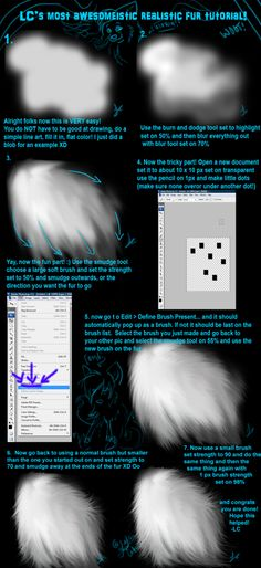 Realistic Fur Tutorial 2 VIDEO by =LightningCato on deviantART