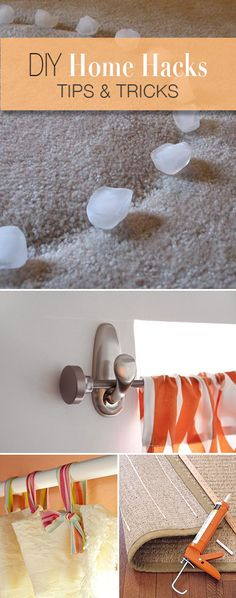 DIY Home Hacks • Tips, tricks and tutorials! I really like the shower curtain with the ribbons.